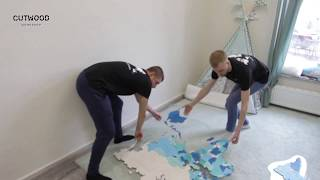 Cutwood Монтаж Карты мира