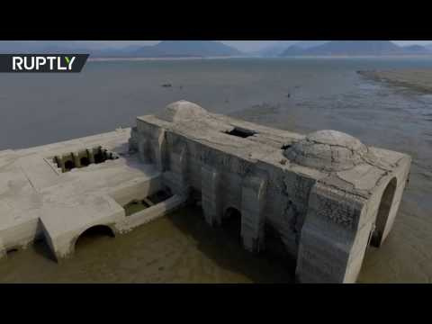 Pieces of 'Atlantis': 16th century Dominican church revealed in drought (Drone footage)