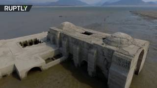 pieces of atlantis 16th century dominican church revealed in drought drone footage