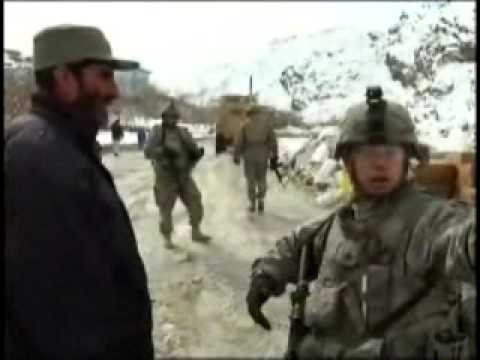 Distributing Aid After Afghan Avalanche