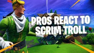 PRO'S REACT to us TROLLING a Competitive Scrim Game