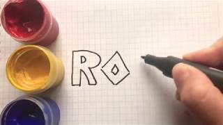 How to Draw and Coloring ROBLOX logo. Roblox song