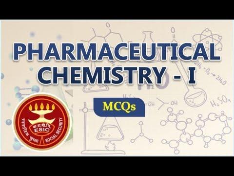PHARMACEUTICAL CHEMISTRY - I, MCQs | ESIC PHARMACIST | PHARMACIST EXAM |  RAJASTHAN PHARMACIST