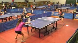 Tenis de Mesa La Cisterna Carolina Cárdenas v/s Katherine Díaz Tercer set