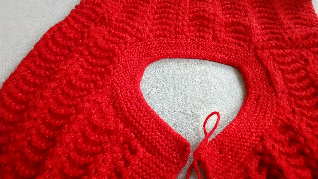 Knitting A Sweater Neckline : How to knit round neck in ladies cardigan youtube