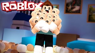 Roblox Adventure - CHAOS WITH 50 BABIES!? (Roblox Where's The Baby)
