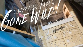 The New Cabinets Are Wild // Van Life Camper Van Remodel // Custom Woodwork Finished