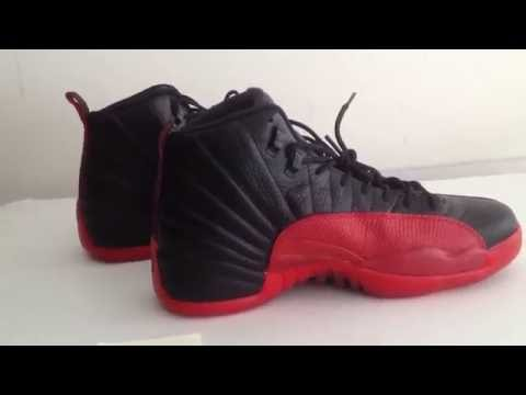 more photos 92e0c 5711f Real VS Fake Unauthorized Air Jordan 12 XII Flu Game Black Red 2016