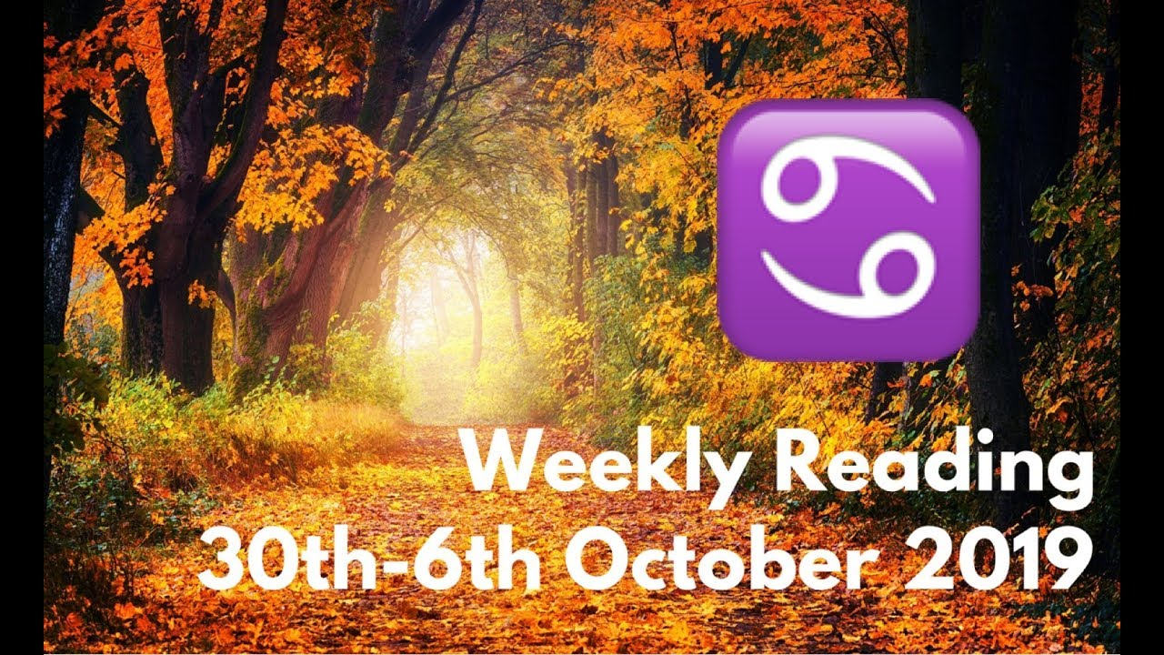 cancer weekly tarot reading october 2019