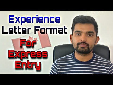 Work Experience/ Reference Letter Format For Express Entry | For Overseas Applicants| Things To Know