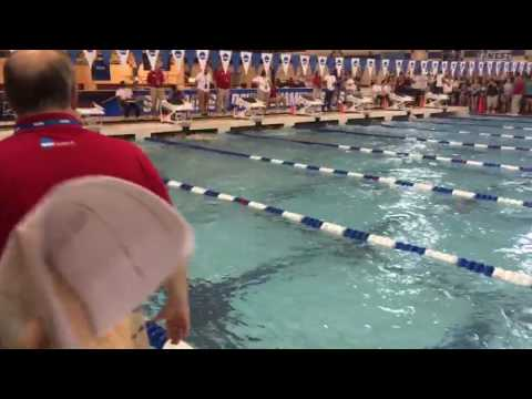 Andrew Wilson NCAA D3 Record 100 yard breaststroke  50.94 Angle 1