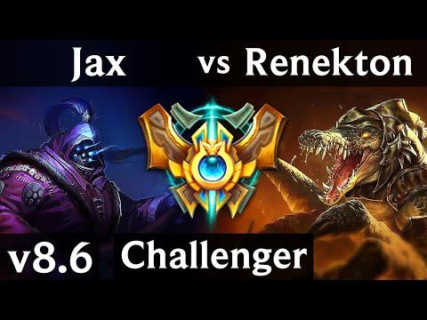 JAX vs RENEKTON (TOP) /// Korea Challenger /// Patch 8.6