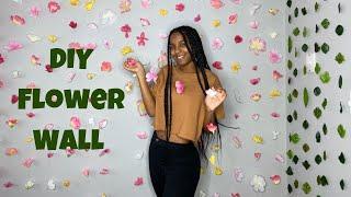 DIY Flower Wall   Cheap Floral Garland Decoration