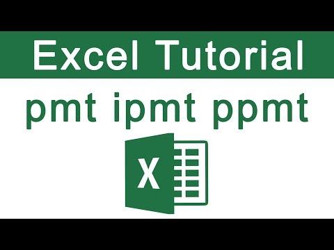 pmt ipmt ppmt formula in excel