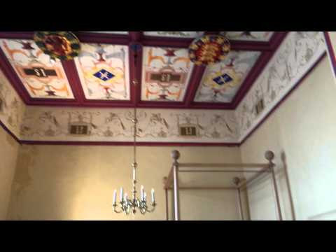 Inside stirling castle kings bed chamber