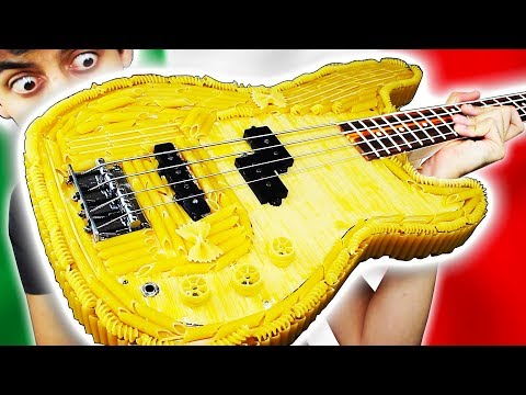 Playing a PASTA BASS GUITAR