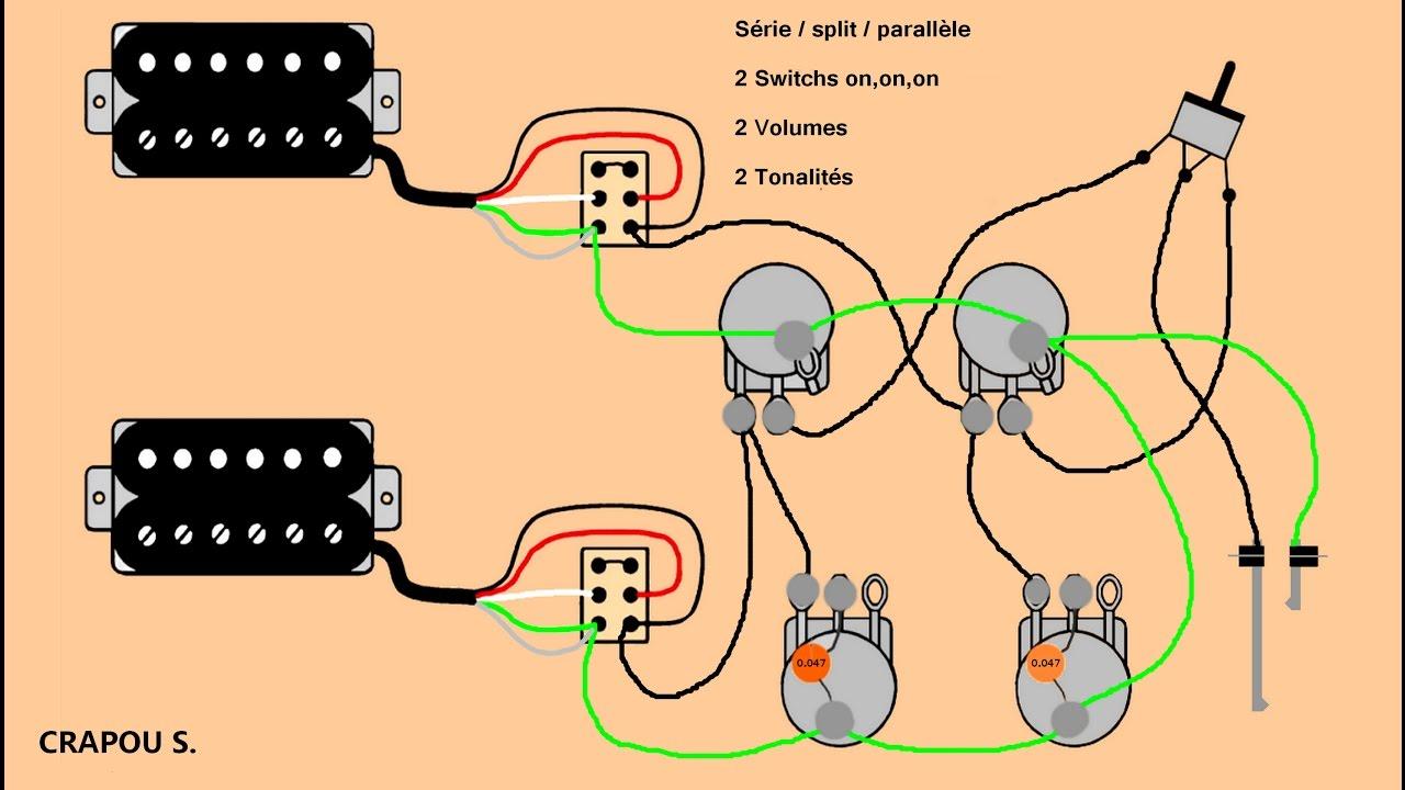 Micro Double Bobinage Srie Split Parallle Schmas Youtube Ii Epiphone Les Paul 100 Standard Strat Wiring Mod