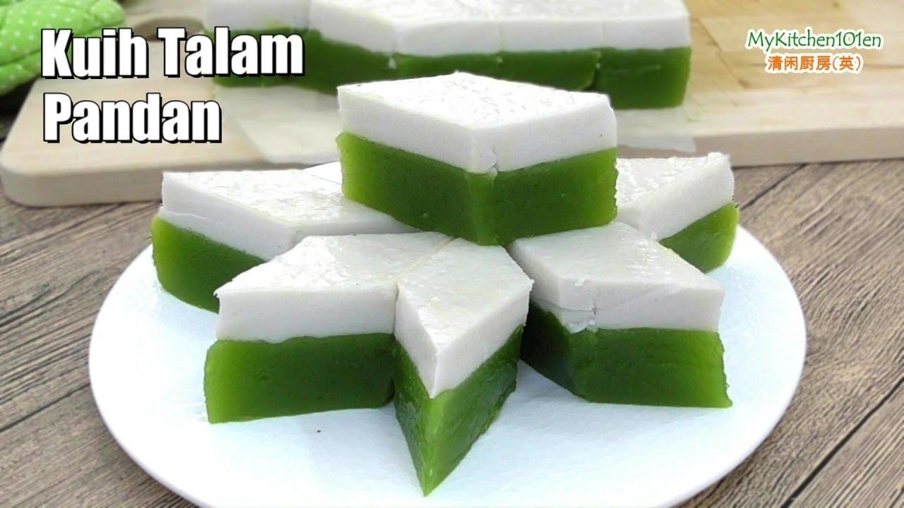 Kuih Talam Pandan Pandan Tray Cake Mykitchen101en