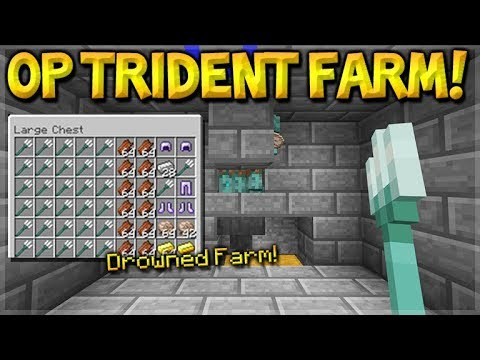 Minecraft: How To Build the Most OP Drowned Trident Farm, Na