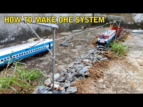 How to Make a Electric Train OHE System | Wag 7 Tiger face | Indian Model Train