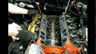 TAKING APART 427 BBC HIGH PERFORMANCE ENGINE BLOWN UP! 1957 Chevy Sedan Delivery Drag Car