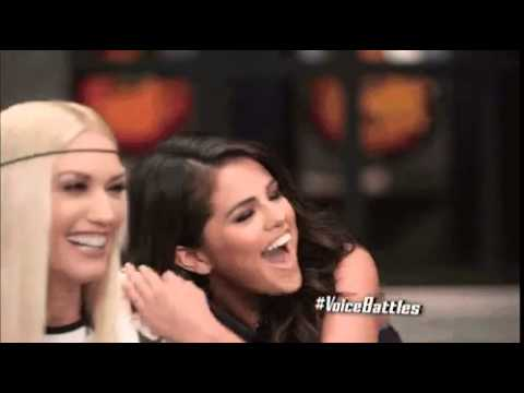 selena gomez gwen stefani the voice season 9 episode 7 gif
