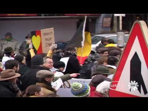 'Shame' protest in Brussels calls for a Belgian government