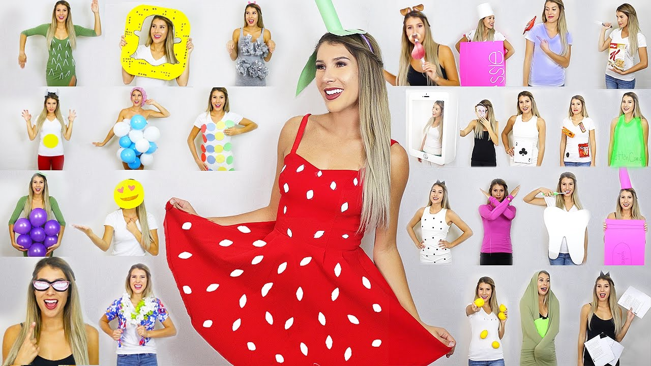 sc 1 st  YouTube & 31 DIY Last Minute Halloween Costume Ideas - YouTube