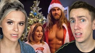 REACTING TO THE WEIRDEST CHRISTMAS COMMERCIALS With Talia