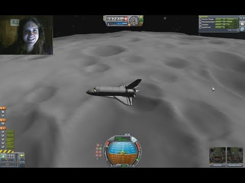 Flying a Space Shuttle to the Moon in Kerbal Space Program -  Part 1