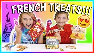 😋FRENCH TREATS TASTE TEST😆 | We Are The Davises