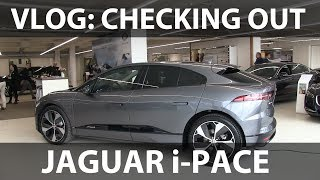 Checking out the Jaguar I-Pace