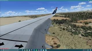 [FSX] Fly UK 737-800 landing in Spain