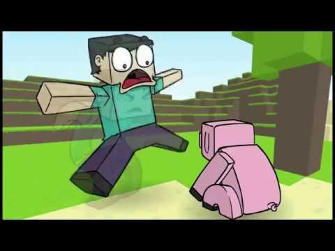 Animação de Minecraft Desenho Animado Mais Engraçado do YouTube