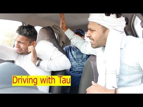 Driving with Haryanvi Tau || Haryanvi Comedy || Swadu Staff Films