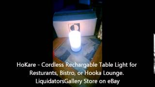 HoKare Cordless Table Light Stages with Rechargeable Battery Available from www.LGeBay.com Store