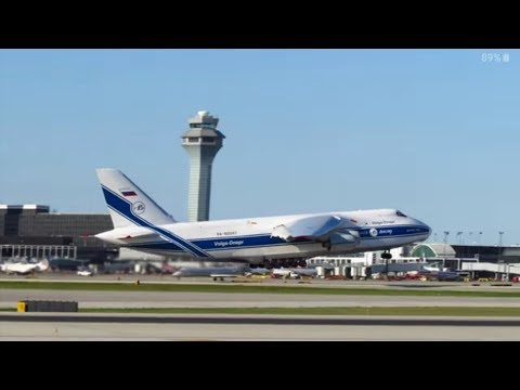 Antonov 124-100 [RA-82047] Departs KORD RWY 10L - O'Hare Int'l Airport Planespotting [09.12.2015] from YouTube · Duration:  1 minutes 36 seconds