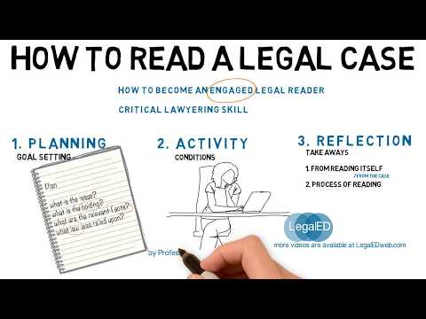 How To Read A Legal Case