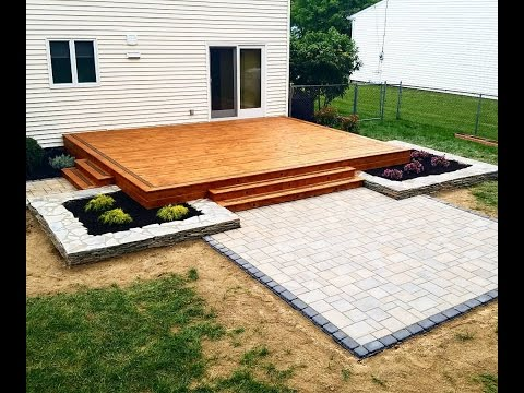 Building a Modern Deck and Patio - YouTube