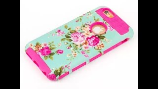 Deluxe Pattern Printed Shockproof Armor Matte Case Cover For iPhone 6 & 6 Plus