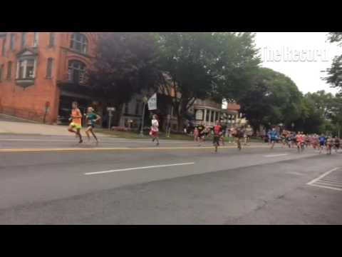 The Saratoga Palio 5K kicking off on Broadway this morning