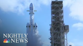 SpaceX's Falcon Heavy Rocket Nails Its Maiden Test Flight | NBC Nightly News
