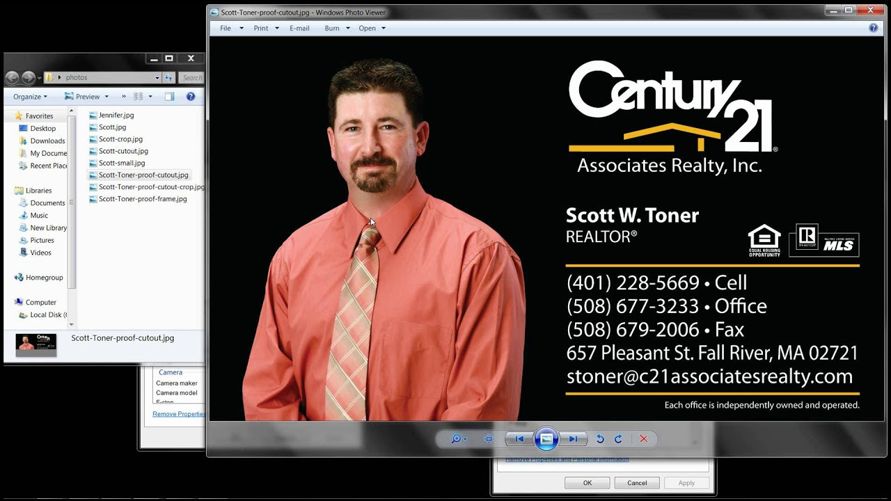 photo settings for real estate business cards youtube