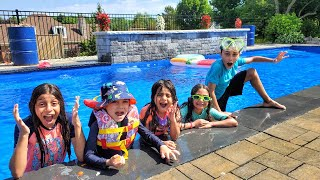 Last to leave the pool challenge wins roblox points with HZHtube Kids Fun