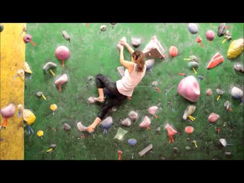 Natacha Jagde træner i Copenhagen Boulders