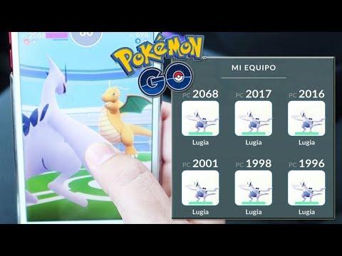¡TEAM LUGIA x6 vs GIMNASIO en Pokémon GO! [Keibron]