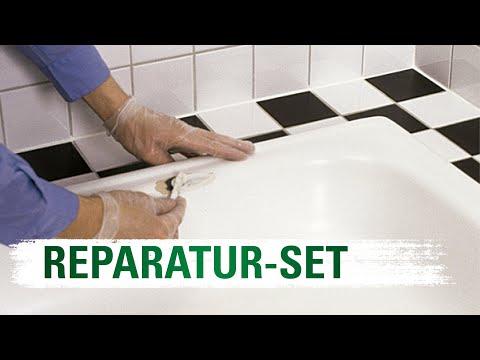 Badewannen Wannen Reparaturset Anleitung in Einzelschri ...