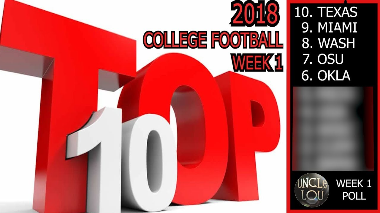 Bold predictions for Week 1 in college football