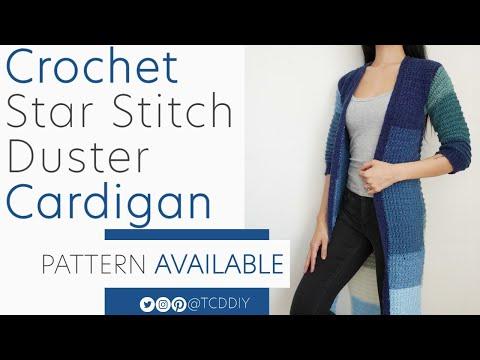Crochet Duster Cardigan | Pattern \u0026 Tutorial DIY