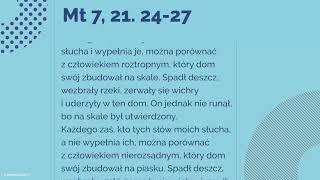 #Ewangelia | 6 grudnia 2018 | (Mt 7, 21. 24-27)